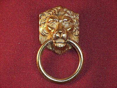 Vintage Lion Drawer Pull Handle Ornate Replacement Part Hardware Dresser
