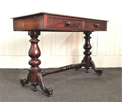 Antique Victorian writing desk - side console table