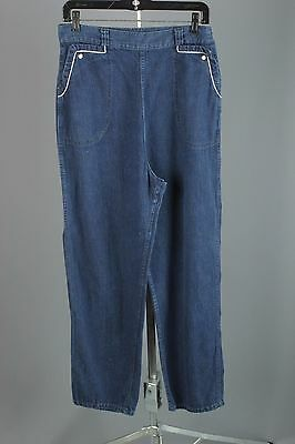 VTG 1950s 1960s Women's Cotton Denim Side Zip Jeans #1523 50s 60s Rockabilly