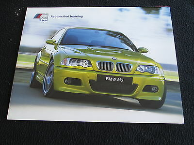 2002 BMW Performance M Driving School foldt Brochure Z8 E39 M5 E46 M3 Catalog