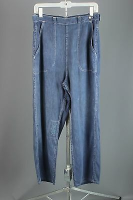 VTG 1950s 1960s Penney's Brand Women's Cotton Denim Side Zip Jeans #1524 50s 60s