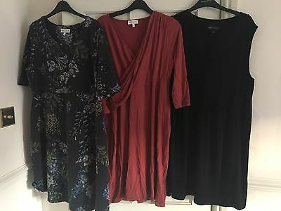 3 Next Maternity Dresses, Size 16 Good Condition