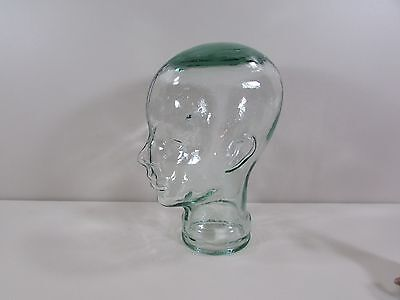 Light Green Glass Mannequin Wig Display Stand Head