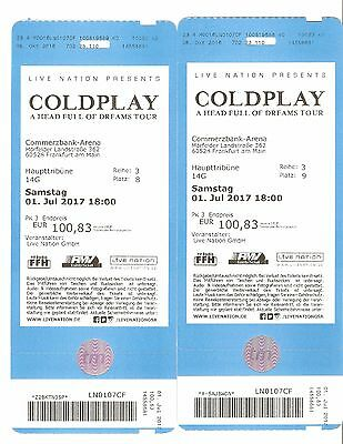 Two tickets COLDPLAY concert in Frankfurt 2017