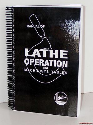 Atlas Lathe Manual Metal Lathe Tool Owners Craftsman