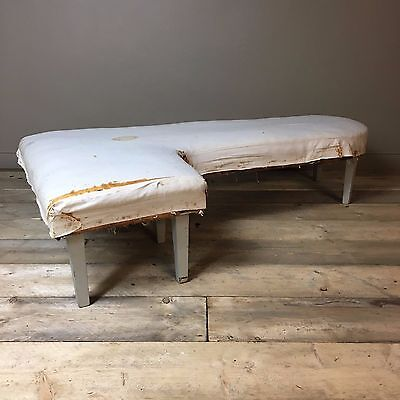 Victorian L-Shape window seat - antique corner bench - recover project
