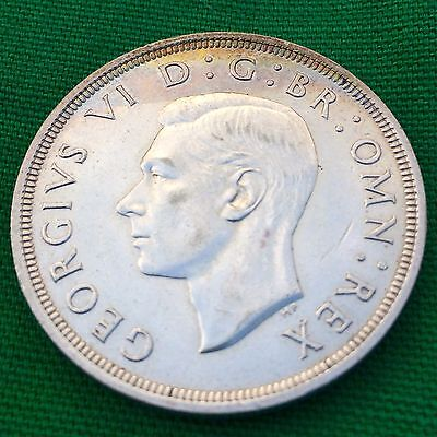 1937 Great Britain King George VI Silver Crown Coronation Coin Toned