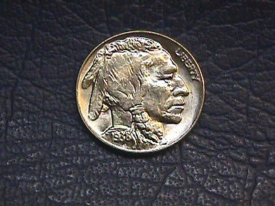 1938-D Buffalo Nickel, Brilliant Uncirculated. Free Shipping.