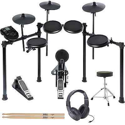 Alesis Nitro Drum Kit, 8-Piece Electronic Kit + Module Throne, Headphones + MORE