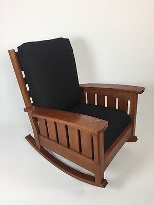 Stickley Rocker Mission Style Arts And Crafts Cherry Wood
