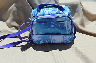 Pottery Barn Kids Duel Lunch Bag Blue Palm Trees