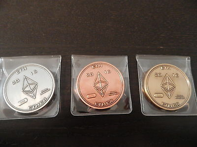 Ethereum Physical Coin Set 2016 ETH Ether Bit Coin #57