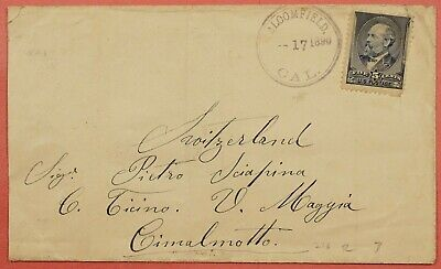 5C # 216 On 1890 Cover Dpo Bloomfield California Ca To Switzerland