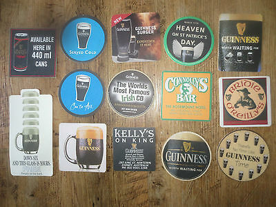 14 Different  GUINNESS AUSTRALIAN Issue Beer collectable COASTERS,