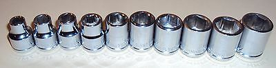 10- Blackhawk 3/8 in Drive Metric Socket Sets,6 pt,7mm to 16mm, Made in US,Tool