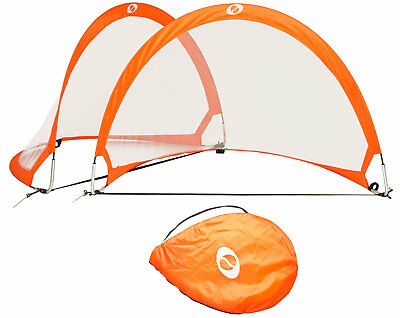 Optima Portable Pop-Up Soccer Goals Set of 2 with Carry Case, 4' and 6'