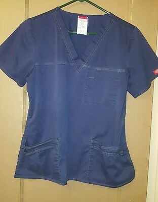 Dickies GenFlex Youtility WOMENS scrub  med top sm pants set blue 857455 cargo