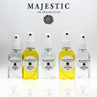 MAJESTIC Room Spray Many Fragrances Scent Atomizer Air Freshener Aroma Mist UK