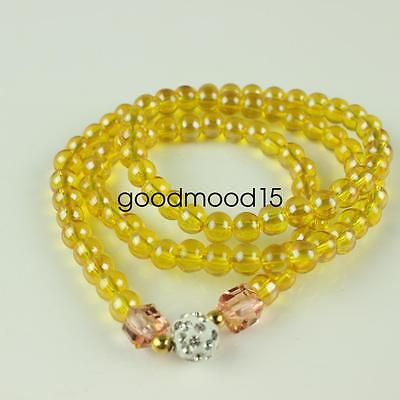 China fashionable yellow bead Bracelet and necklace LJQ415