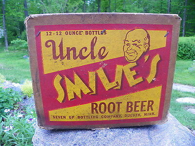 Uncle Smiles Root Beer Bottle Box Rare !!!