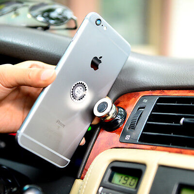 1* 360 Magnetic Cell Mobile Phone Car Dash Holder Magic Stand Mount Black