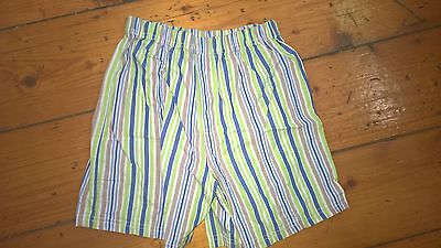 Sh-OOSH unisex green striped cotton shorts 5 years as new