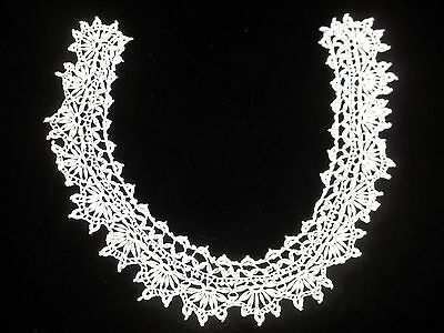 Vintage Crochet Lace Collar Crocheted Design 2 inch wide CL05