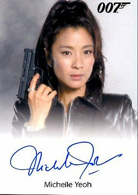 2017 James Bond Archives Final Ed FULL BLEED AUTOGRAPH card MICHELLE YEOH