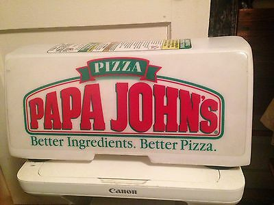 Papa Johns Delivery Lighted sign Car Topper