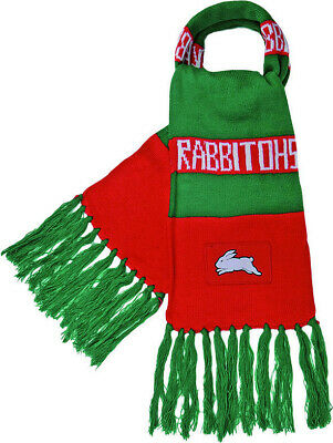 Souths Sydney Rabbitohs NRL Traditional Bar Scarf with tassels! BNWT's!