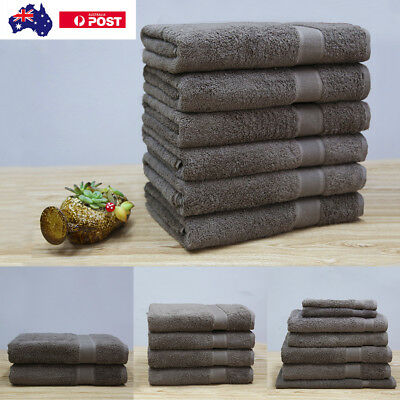 Egyptian Combed Cotton Bath Towels Pack Brown Colour Heavy Quality Beach Towel