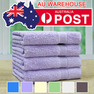 4x Egyptian Cotton Bath Towels Value Pack 550gsm Combed Quality Multi-Colours