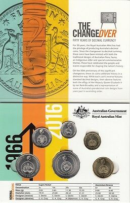 2016 Australia 50th Anniversary Changeover Folder and Coins from Mint Bags