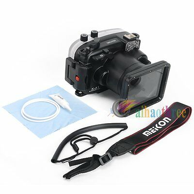 Meikon 40m 130ft Waterproof Diving Case Cover For Fuji X-A1 XA1 16-50mm Camera