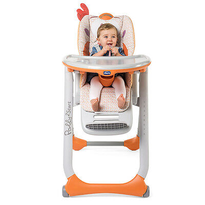 Chicco Polly 2 Start Highchair in Fancy Chicken, Adjustable Baby Feeding Chair
