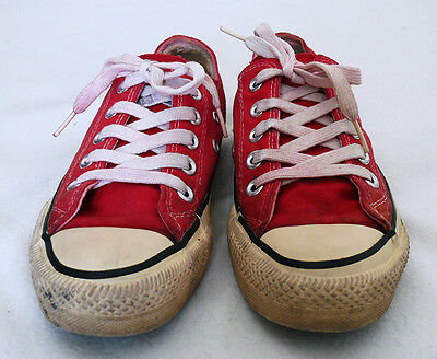 Vintage Made in USA Original 70s/80s Red Converse All Stars Size US 3.5