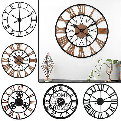 Deluxe Wall Mounted Vintage Style Word Cutlery Clock Home Kitchen Bedroom Décor