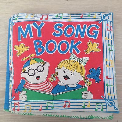 Vintage / Retro style 'My Song Book' from Princess Fabric for baby or collectors