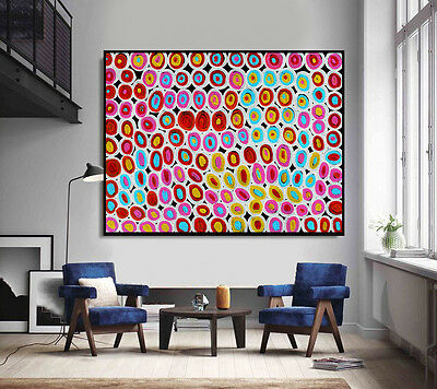 210cm by 150cm, Huge contemporary abstract dot painting by Anna Narnina