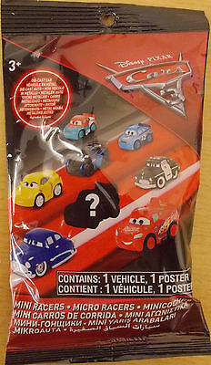 Disney Pixar Cars 3 ~ Mini Micro Racers Die-cast ~ Sealed Blind Bag