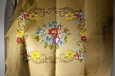 Unworked Tapestry Goblin Flower Pattern