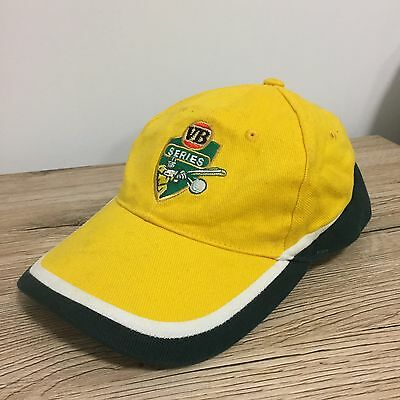 VB Series Victoria Bitter Cricket Official Yellow Green Strapback Cap Hat