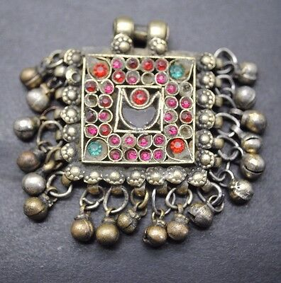 Interesting Post Medieval Silver Pendant With Inserts.