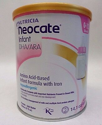 Nutricia NEOCATE Infant DHA/ARA Formula with Iron 14.1 oz Exp 12/17 SEALED