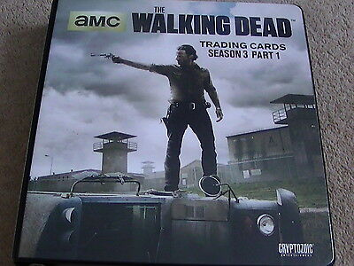 The Walking Dead Season 3 Part 1 Trading Cards and Binder Cryptozoic