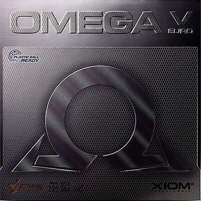 XIOM OMEGA 5 EURO Table Tennis Rubber Ping Pong 2.0mm/MAX Red/Black