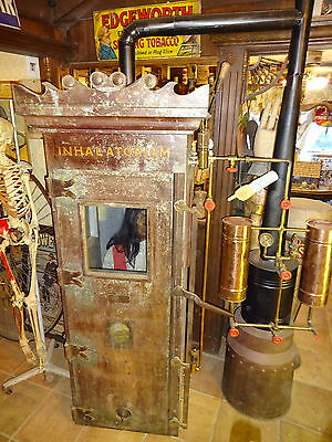 Rare C.1905 Vintage Inhalatorium Quack Medical Gas Chamber w/ video Steampunk