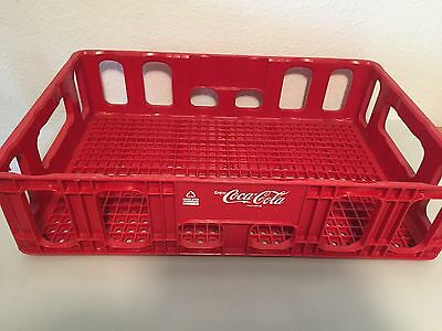 """Coco-Cola Red Plastic Coke Crate Rounded Corners 18""""x12"""" GUC"""