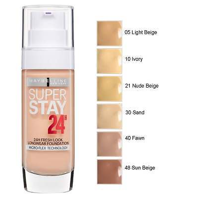 Maybelline Superstay 24H Microflex Technology Foundation * Choose Shade *