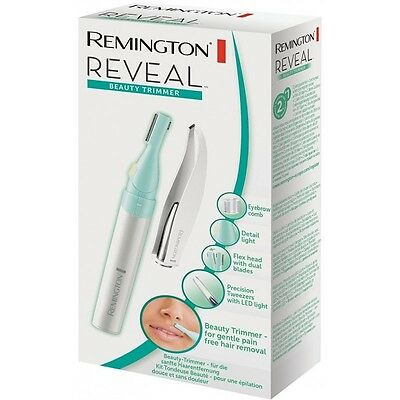 Remington MPT4000C Reveal Beauty Trimmer and LED Spotlight Tweezers - New